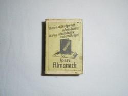 Retro reklám gyufa gyufásdoboz - Ipari Almanach , CompAlmanach Kiadói Kft. - 1980-as évekből