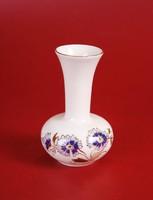 Zsolnay búzavirágos váza (11 cm magas) - HIBÁTLAN