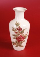 Zsolnay virágos váza (17 cm magas)