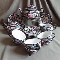 Porcelán teáskészlet, 17 db-os