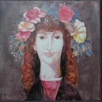 Szász Endre ihlette festmény NAGY 45x45cm