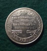 Manchester City F.C. FA Kupa millecentenáriumi emlékérme. 1872-1972.