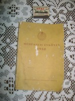 Méhészet évkönyv - 1958