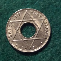 Gyönyörű Brit-Nyugat-Afrika 1/10 penny 1928.