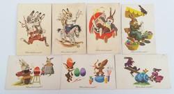 Régi húsvéti képeslap 7 db