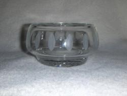 Retro csiszolt üveg tál (j)