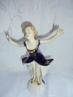 Bájos porcelán balerina figura