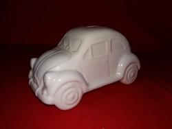 Tündéri Hörbi Herby VW bogár Beetle kicsi kocsi autó mázas kerámia persely figura szép állapotban