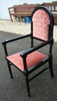 Art-decó karfás szék, felújítva.