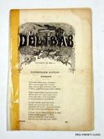 1853 november 20  /  DÉLIBÁB  /  RÉGI EREDETI MAGYAR ÚJSÁG Szs.:  2217