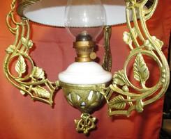 Működő lüszter petróleum függőlámpa ,petróleumlámpa