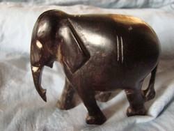 Retro kézzel faragott Fa elefánt