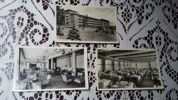 Három régi képeslap: Galya Nagyszálló a Mátrában (szálló, társalgó, étterem)