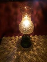 Ritka különleges gyertyás lámpa gyertyával világító lámpa üveg 40 cm