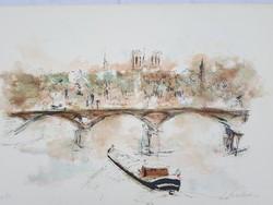 Francia művész: Híd a Szajna felett