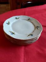5 db Zsolnay kék barackvirág mintás süteményes tányér