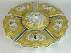 0L804 Porcelán asztalközép fedeles kínáló készlet