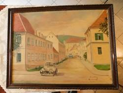 Olajfestmény, Pécs-Sztálin út 1950-es évek