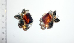 Vintage csiszolt kristály klpsz pár