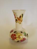 Zsolnay Pillangós magas nyakú váza