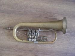 Régi jelzett Sternberg hangszergyári trombita vagy mi