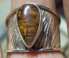 925 ezüst gyűrű, 18,3/57,5 mm, melody stonnal