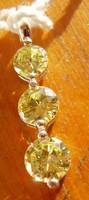 925 ezüst medál lemon színű czirkóniák, egyszerű