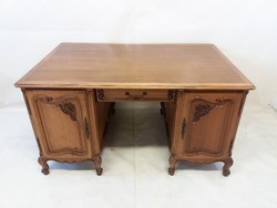 Neobarokk kétoldalas íróasztal
