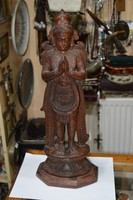 Fa faragott indonéz majomfejű isten figura
