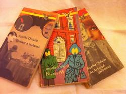 "Agatha Christie regény 3 db a régi ""Sirály"" sorozatból"