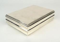 0Q008 Antik jelzett 800-as ezüst kártyadoboz 289 g