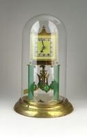 0Q031 Régi üveg búrás amerikai típusú asztali óra