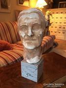 Retro Mesterminta Női fej nagyon szép márvány talapzaton