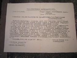 Irat dokumentum papírrégiség 1948 Úttörő - mozgalom  Veszprém vármegye Iskola gyerek