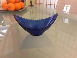 Kék üveg asztalközép