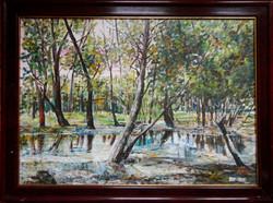 ÁRZUHANÁS! Orvos András gyönyörű eredeti festménye!