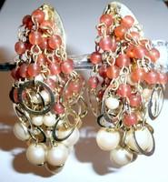 Vintage bizsu bijoux dizájner ékszer klipsz