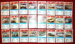 NAGYON RITKA, mini Rally autók autós kártya, hiánytalan!