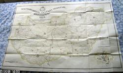 Magyarország tanügyi térképe.  Népiskolák, Szakiskolák, Középiskolák. 1933 (3 darab együtt)