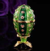Fabergé tojás klasszikus 12 kamrás kivitel tűzzománc swarowski kristállyal