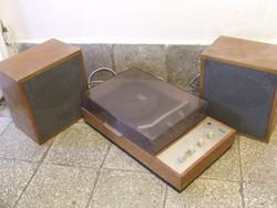 Tesla HC07 retro lemezjátszó,hangfalakkal