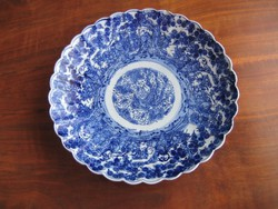 Régi, keleti porcelán tál (31 cm)