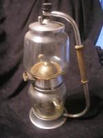 N10 Antik látvány emeletes kávé/ tea főző még 110v-os csak  dekorációnak ritkaság 40 cm-es