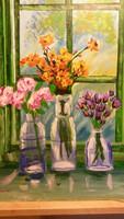 Szentes Zsuzsanna: Csendélet virágokkal