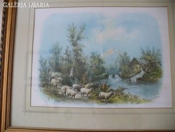 Chandler (amerikai festő) pasztell képe LEÁRAZVA