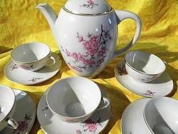 Kispesti porcelán nagyon ritka 6 szem. Kávés készlet,jelzett