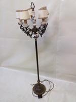 Antik réz-porcelán állólámpa
