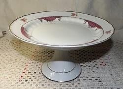 Hollóházi porcelán tortatartó
