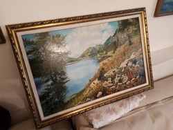 Jelzett olaj fa festmény