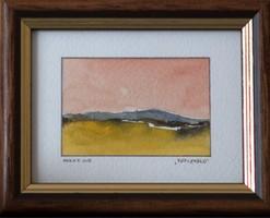 KIÁRUSÍTÁS! Nagyszerű ajándék ötlet! Barsi Ferenc, Mini akvarell kollekció, Repceföld